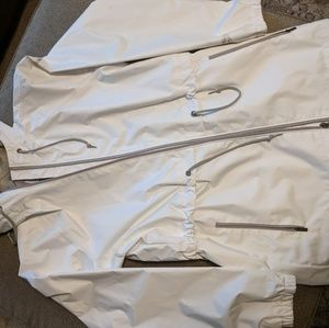 Columbia White and Gray Lightweight Jacket